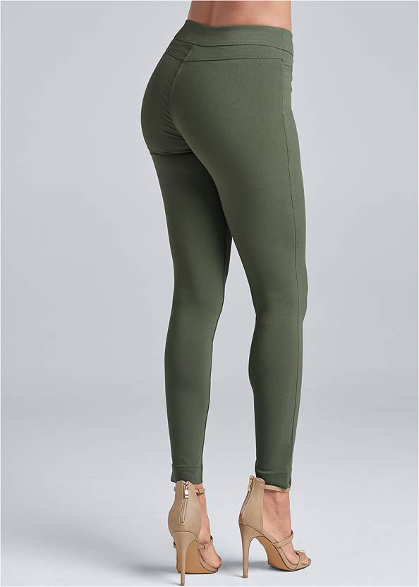 Waist down back view Mid Rise Slimming Stretch Jeggings