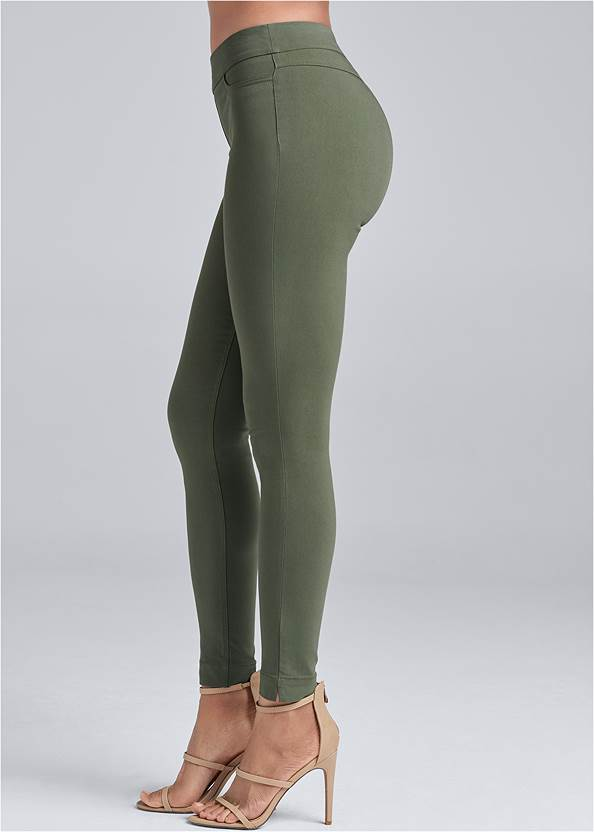 Waist down side view Mid Rise Slimming Stretch Jeggings