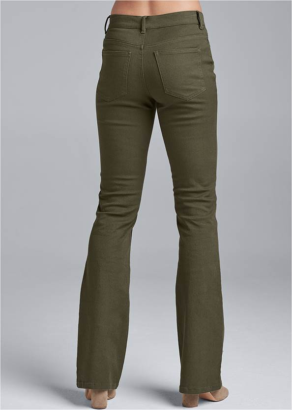 Waist down back view Casual Bootcut Jeans