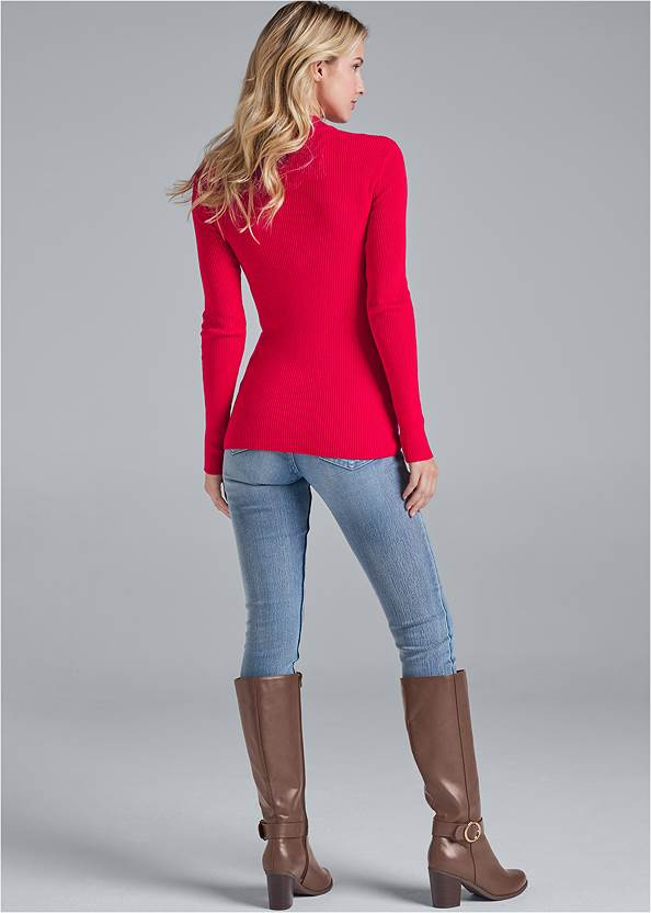 Back View Strappy Detail Sweater