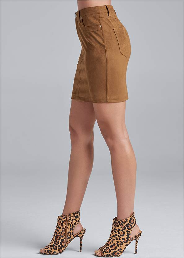 Alternate View Faux Suede Mini Skirt