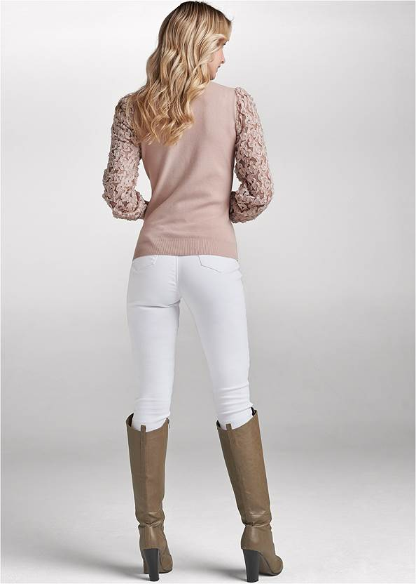 Back View Sleeve Detail Sweater