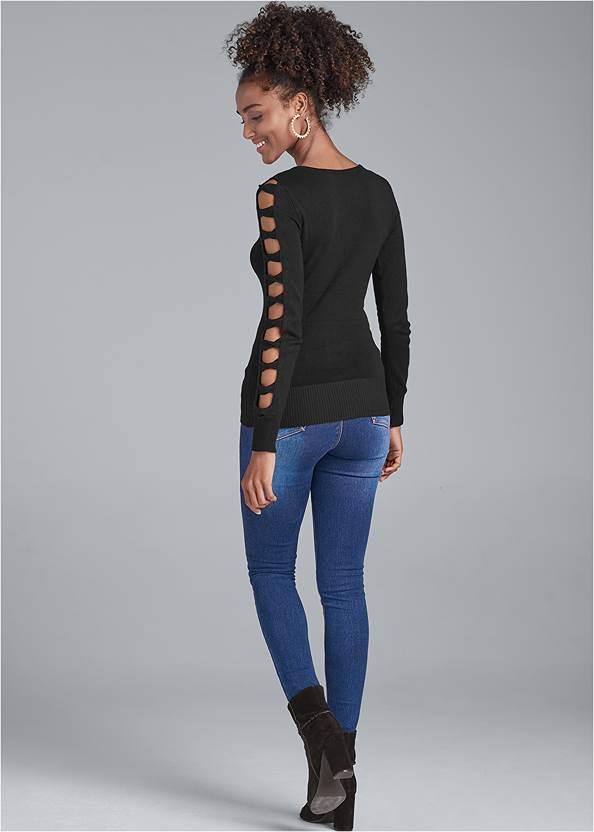 Alternate View Sleeve Detail Sweater