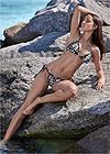 Full front view Pom Pom Triangle Bikini Top