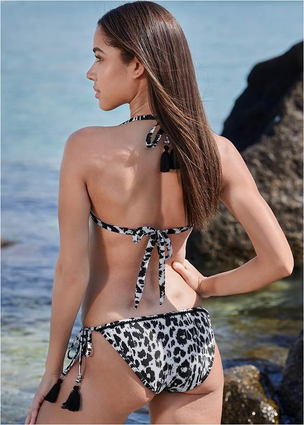 Back View Pom Pom Triangle Bikini Top