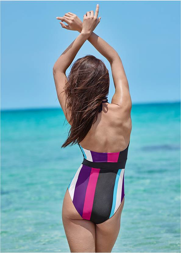 Cropped back view Bandeau One-Piece