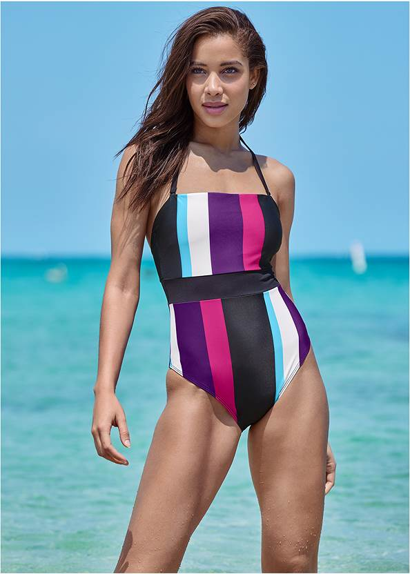 Cropped front view Bandeau One-Piece