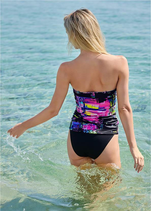 Full back view Slimming Tankini Top