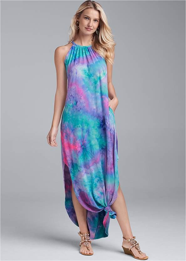 Tie Neck Maxi Dress