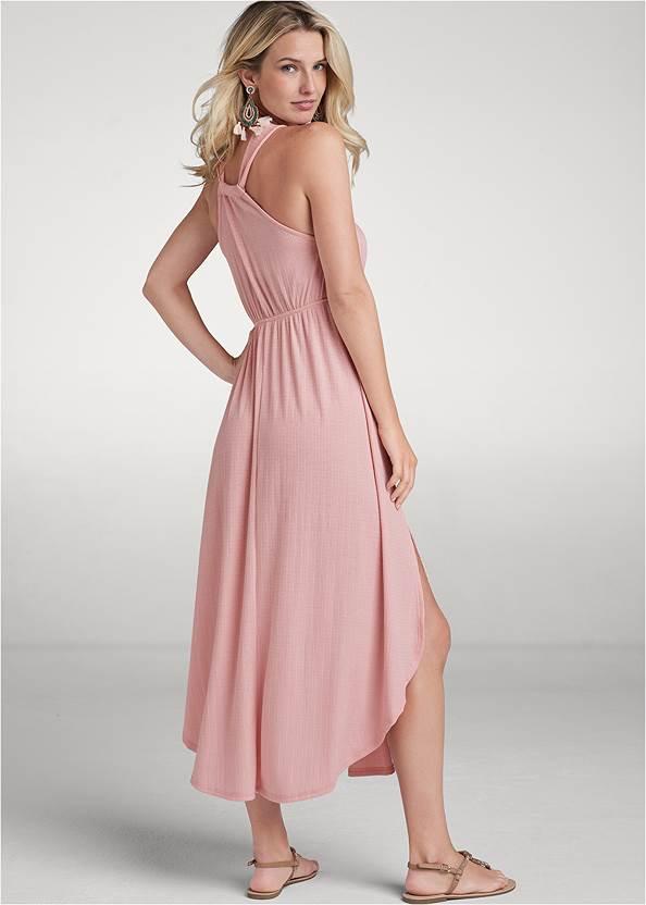 Back View Surplice Maxi Dress