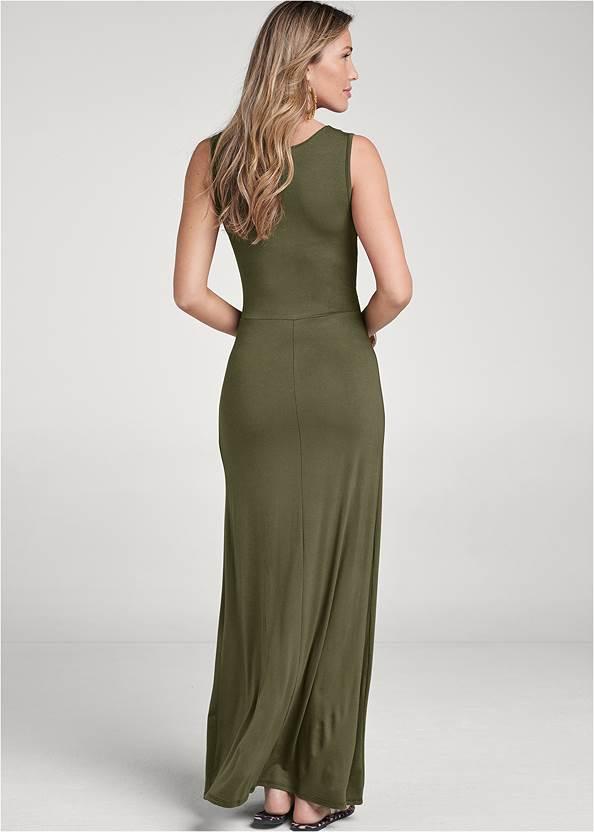 Back View Grommet Detail Maxi Dress