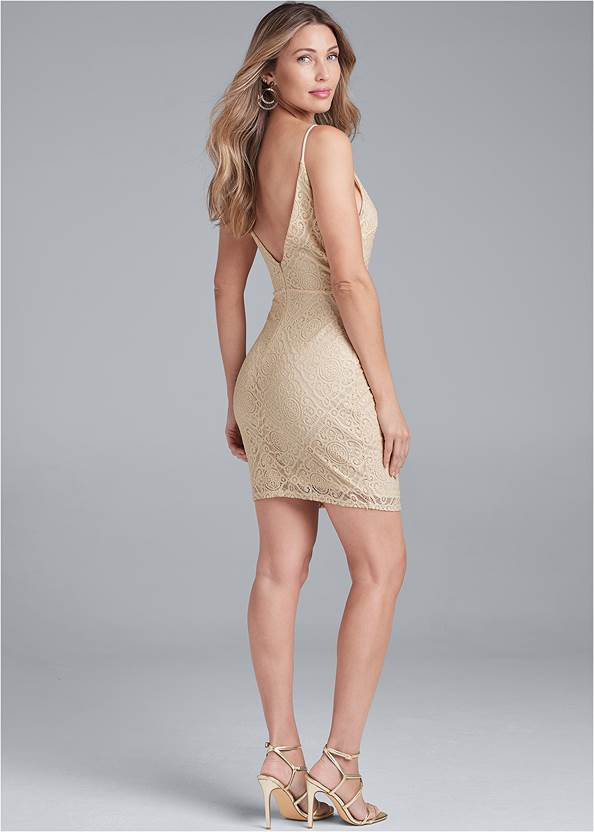 Back View Lace Mini Dress