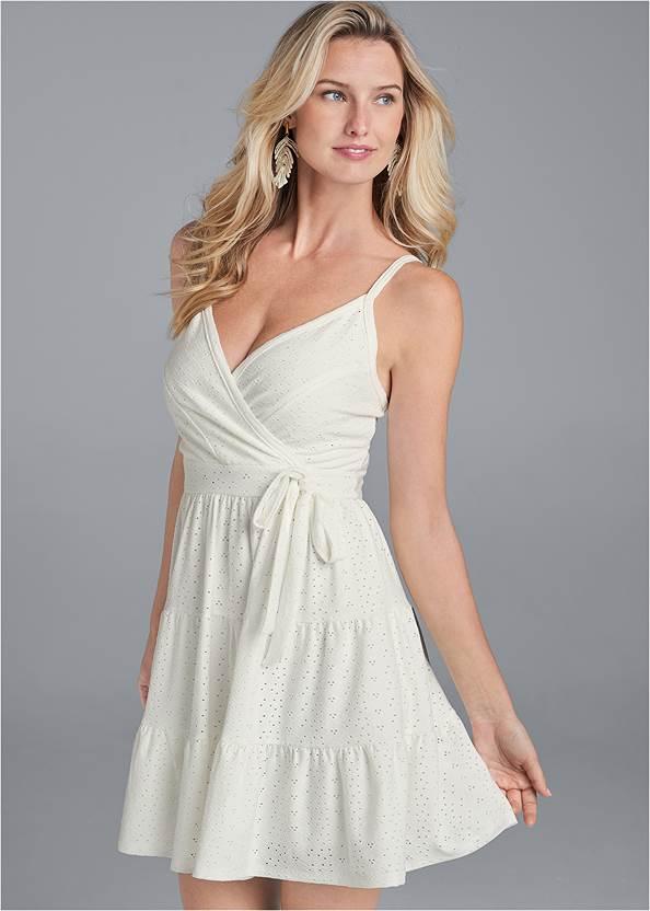 Surplice Tiered Dress