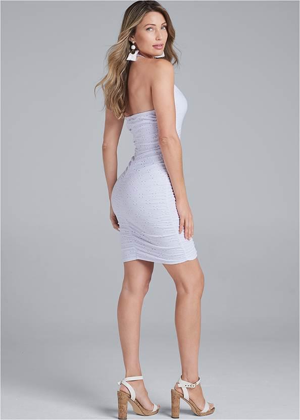 Back View Eyelet Midi Dress