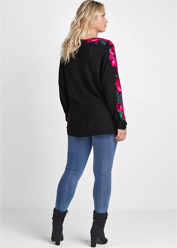 BACK View Floral Detail Sweater