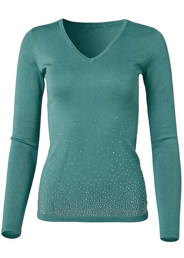 Alternate View Rhinestone V-Neck Sweater