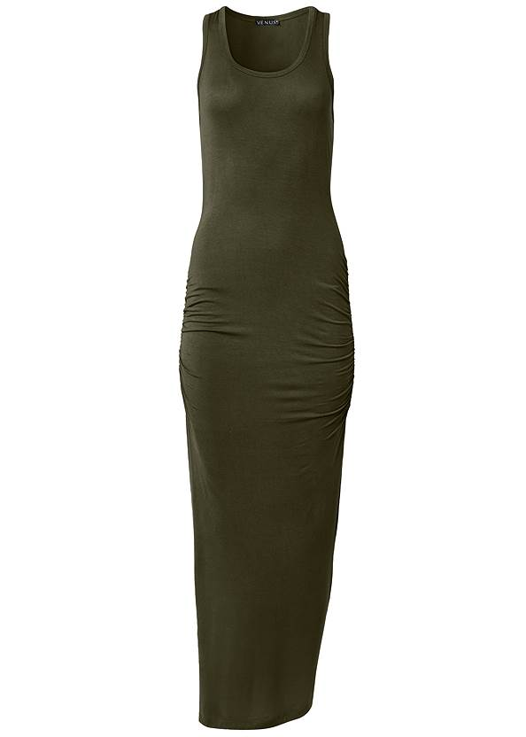 Alternate View Ruched Tank Maxi Dress