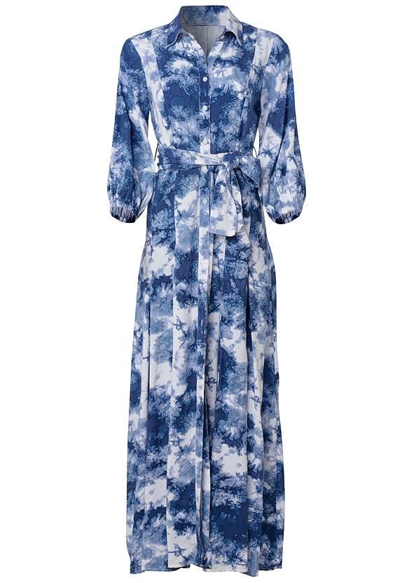 Alternate View Button Down Tie Dye Dress