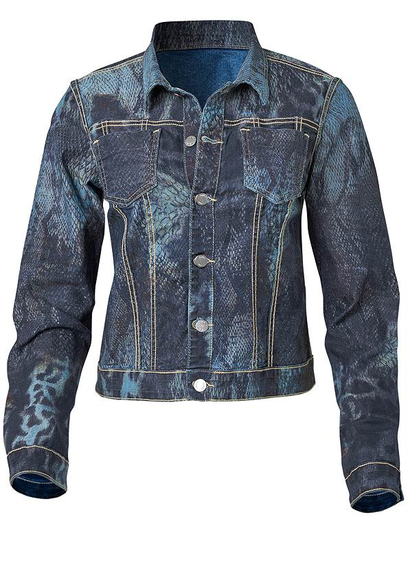 Ghost with background  view Reversible Denim Jacket
