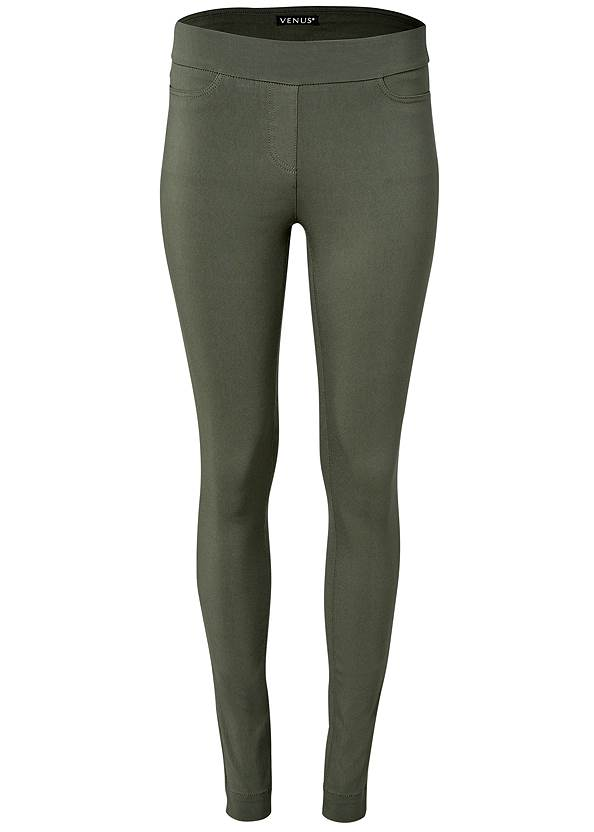Ghost with background  view Mid Rise Slimming Stretch Jeggings