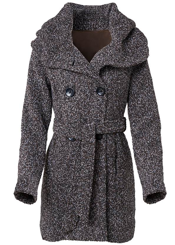Alternate View Double Breasted Boucle Coat