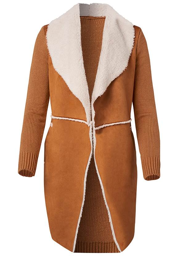 Alternate View Faux Shearling Lined Coat