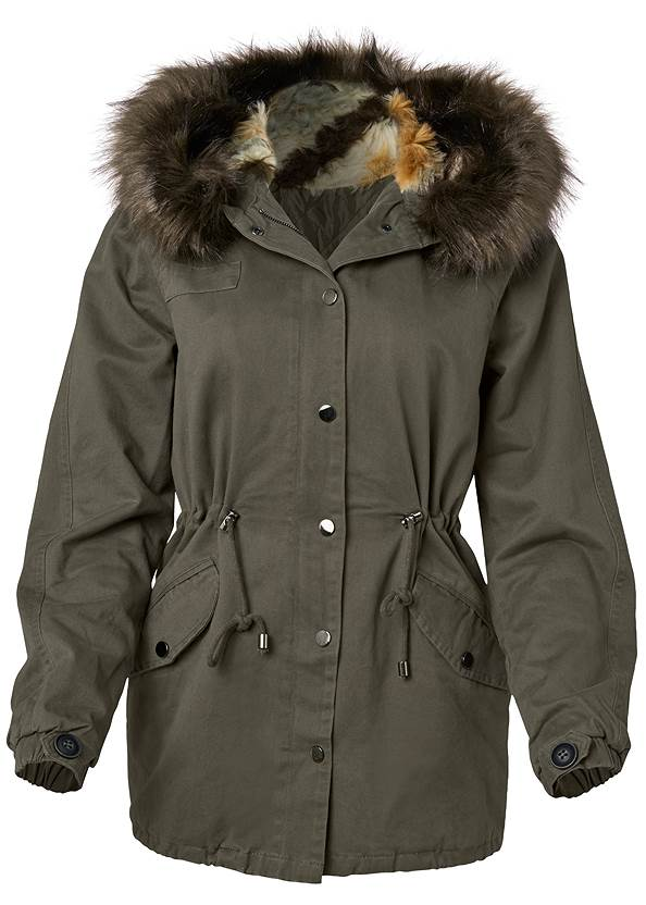 Alternate View Cargo Jacket With Faux Fur