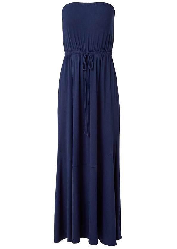Alternate View Strapless Maxi Dress