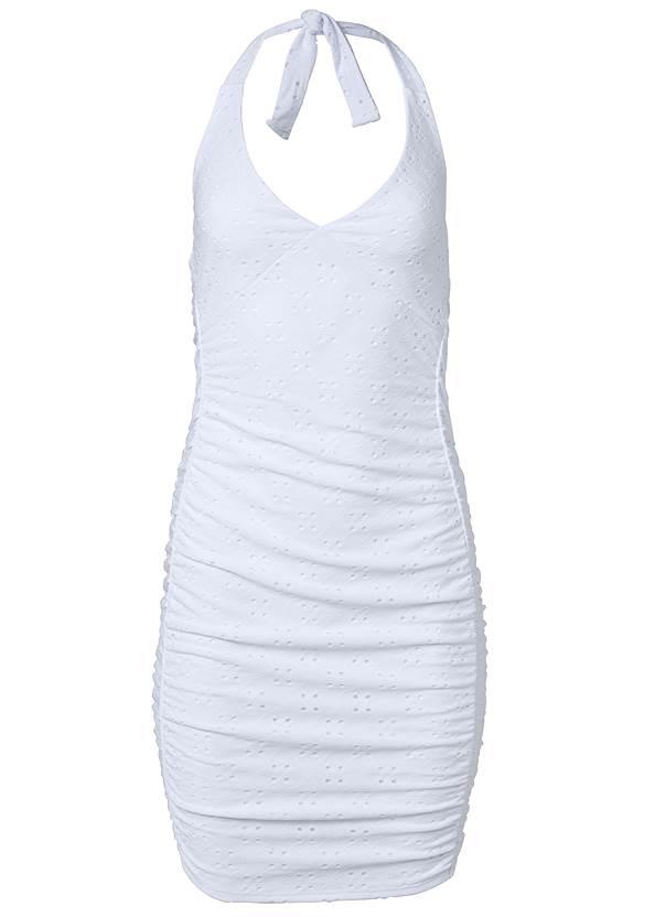 Alternate View Eyelet Midi Dress