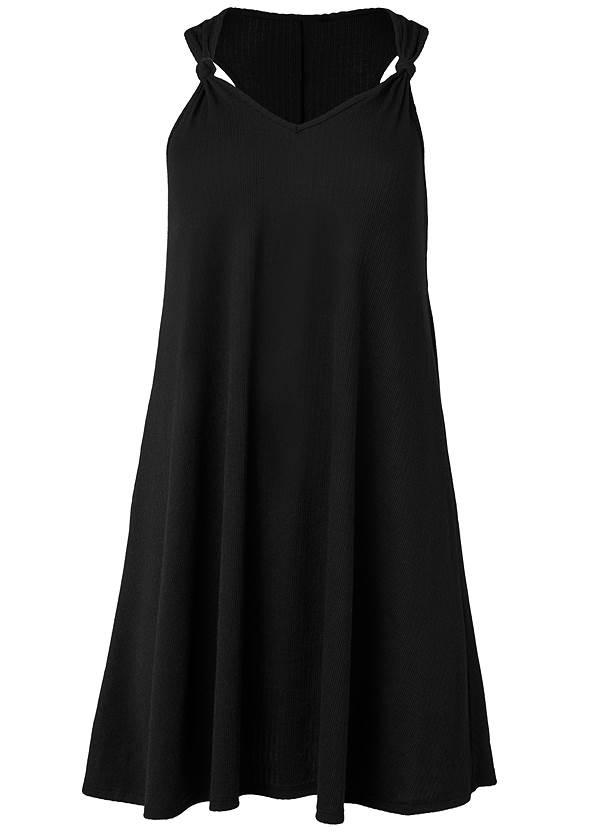 Alternate View Knot Detail Mini Dress