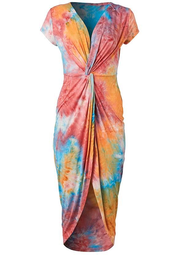 Alternate View Tie Dye Twist Front Dress
