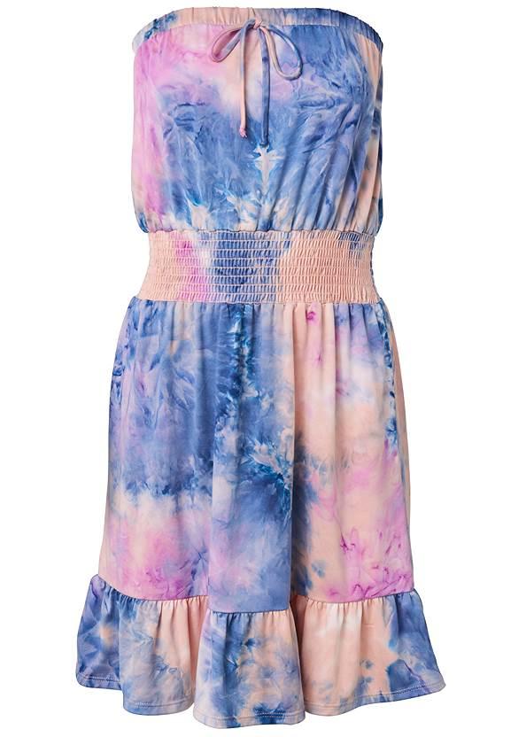 Alternate View Tie Dye Strapless Mini Dress