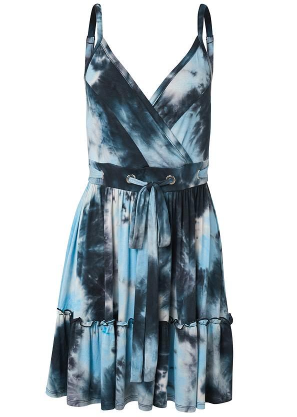 Alternate View Tie Dye Surplice Mini Dress