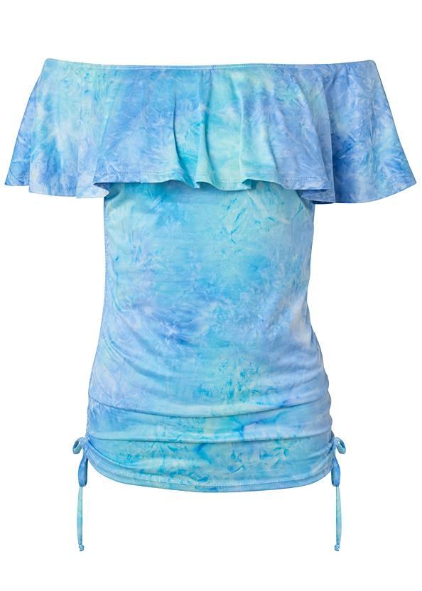 Alternate View Off Shoulder Tie Dye Top