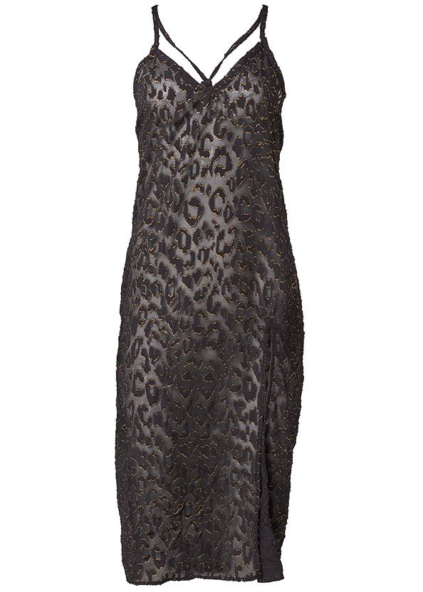 Ghost with background  view Glitter Slip Midi Cover-Up