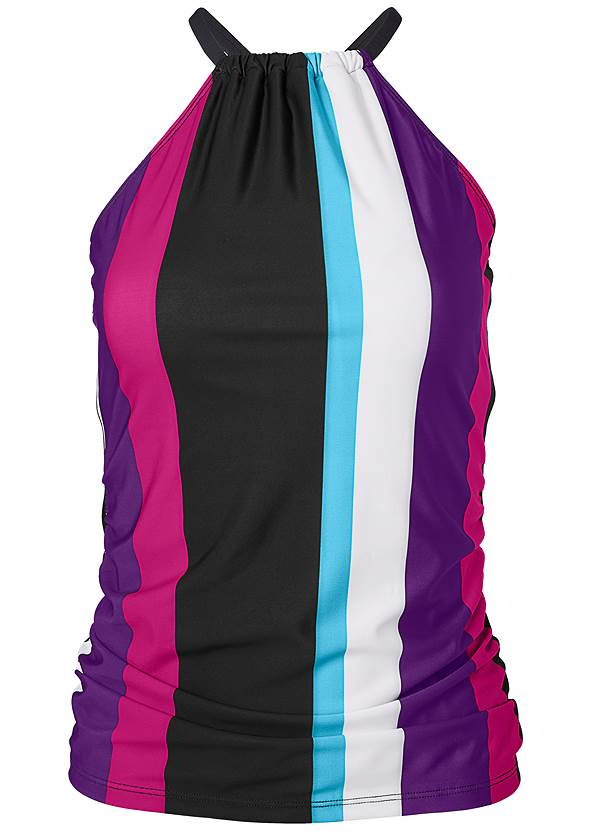 Alternate View Ruched Side Halter Tankini Top