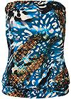 Ghost with background  view Blouson Bandeau Tankini Top