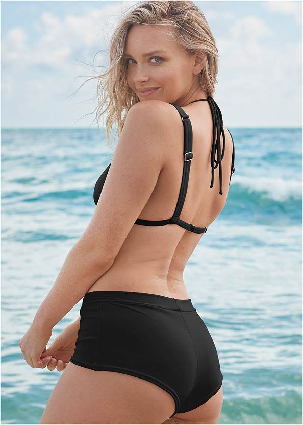 Back View Sports Illustrated Swim™ Over The Shoulder Triangle Top