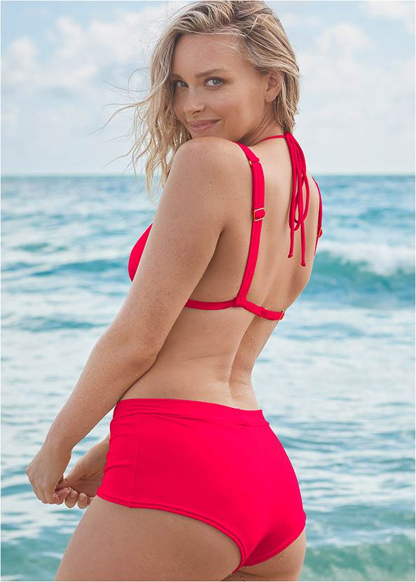 Full back view Sports Illustrated Swim™ Over The Shoulder Triangle Top
