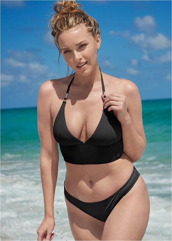 Sports Illustrated Swim™ Low Rise Brief Bottom,Sports Illustrated Swim™ Longline Halter Top