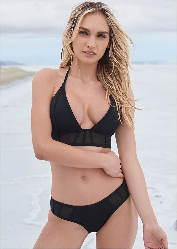 Sports Illustrated Swim™ Caged Triangle Top,Sports Illustrated Swim™ Caged Low Rise Bottom