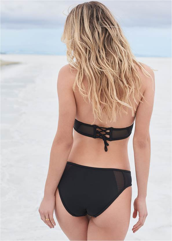 Full back view Sports Illustrated Swim™ Caged Triangle Top
