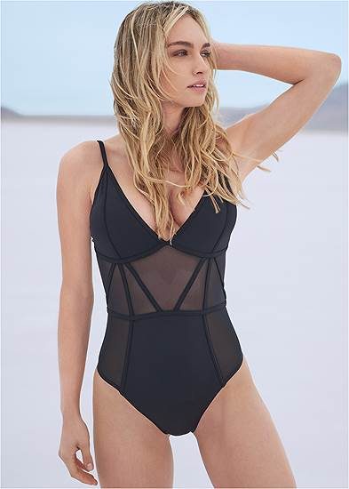 Sports Illustrated Swim™ Caged One-Piece