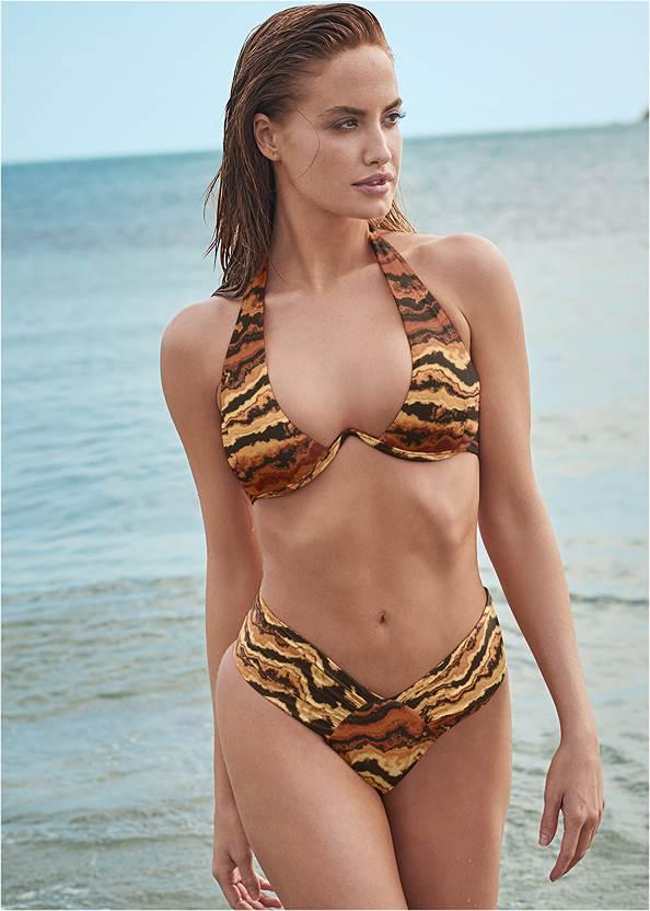 Sports Illustrated Swim™ Windswept Unlined Underwire Top,Sports Illustrated Swim™ High Leg Ruched Bottom