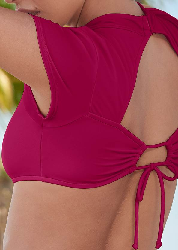 Detail back view Sports Illustrated Swim™ Alexa Crop Top