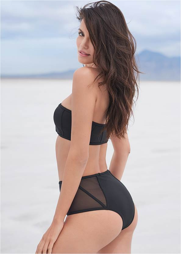Full back view Sports Illustrated Swim™ Caged Bandeau Top