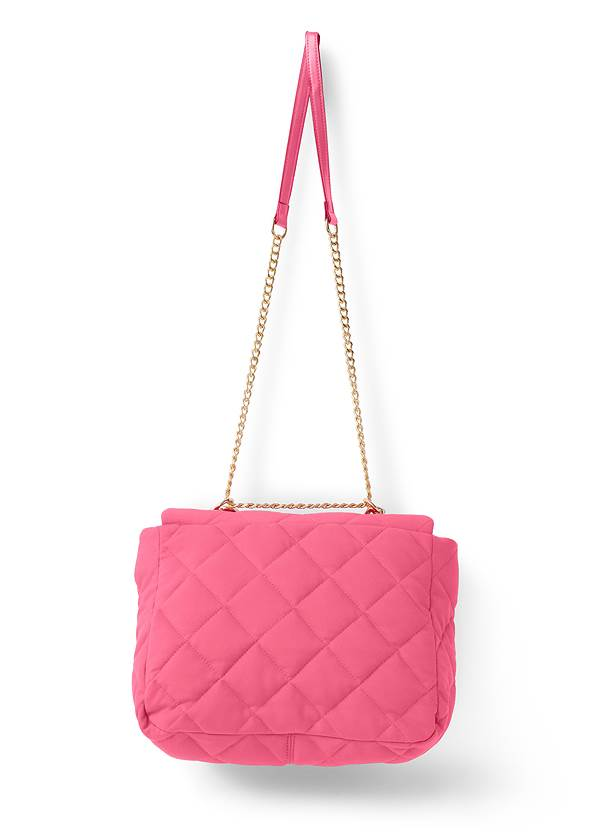 Back View Quilted Chain Handle Bag