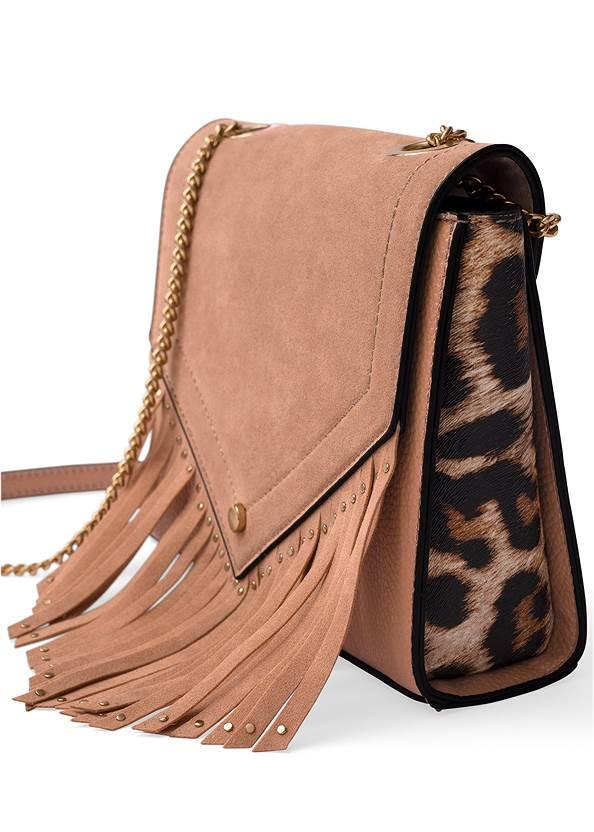 Leopard Fringe Crossbody,Sleeve Detail Dress,Etched Boho Hoop Earrings