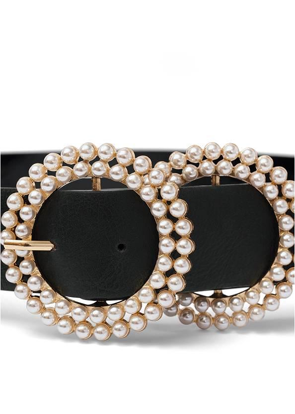Alternate View Pearl Double Buckle Belt