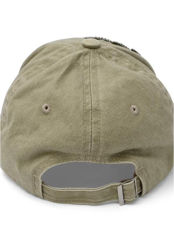 Flatshot  view Distressed Embellished Hat